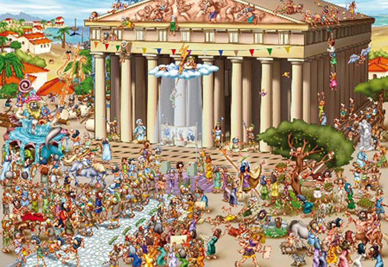 Puzzle D-Toys Acrópolis de 1000 Piezas