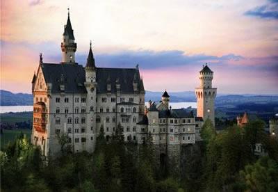 Puzzle D-Toys Alemania, Castillo del Rey Loco de 1000 Pieza
