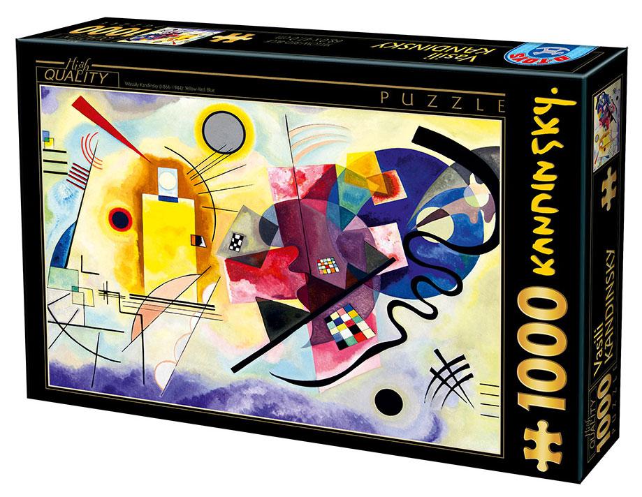 Puzzle D-Toys Amarillo Rojo Azul de 1000 Piezas