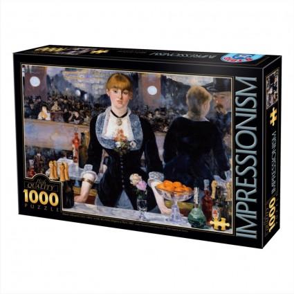 Puzzle D-Toys Bar en el Folies Bergere de 1000 Piezas