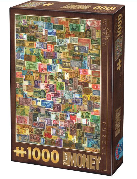 Puzzle D-Toys Billetes de 1000 Piezas