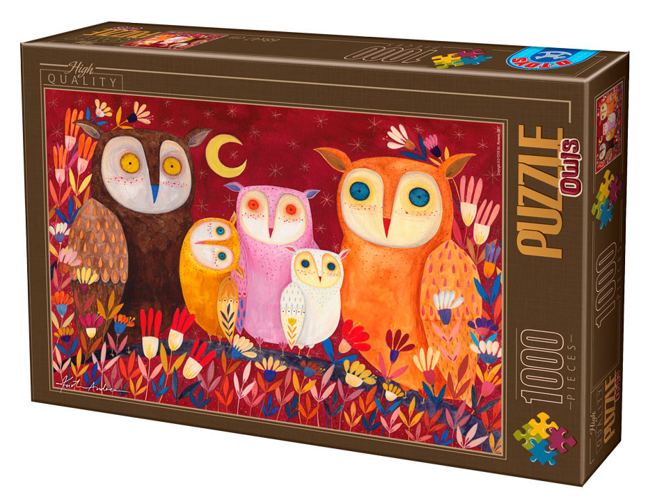 Puzzle D-Toys Búhos I de 1000 Piezas