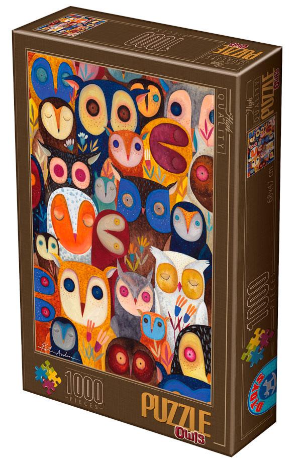 Puzzle D-Toys Búhos II de 1000 Piezas
