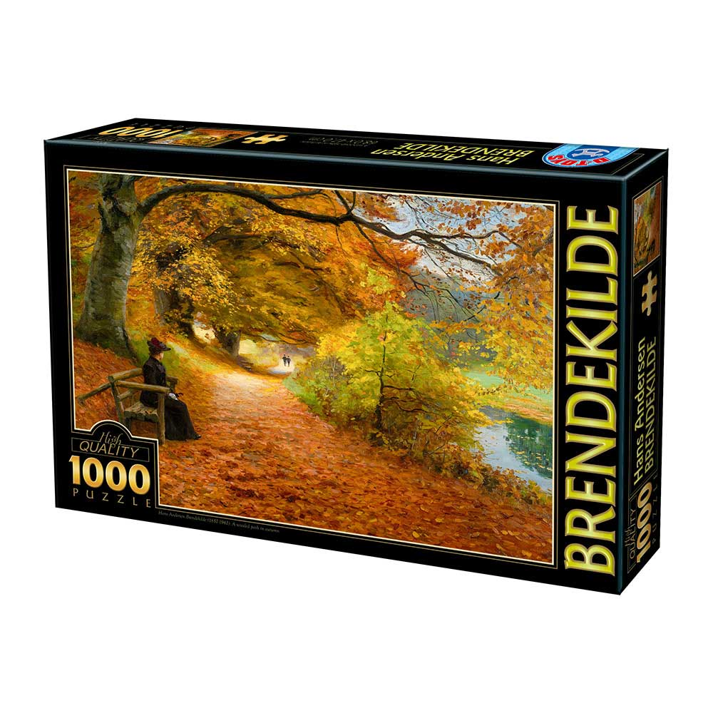 Puzzle D-Toys Camino Boscoso en Otoño de 1000 Piezas
