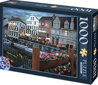 Puzzle D-Toys Canal de Amsterdam de 1000 Piezas