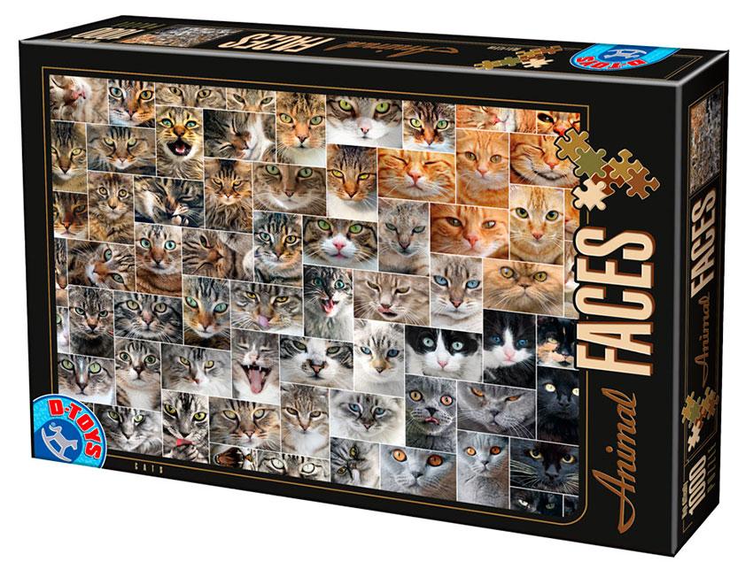 Puzzle D-Toys Caras de Animales, Gatos de 1000 Piezas