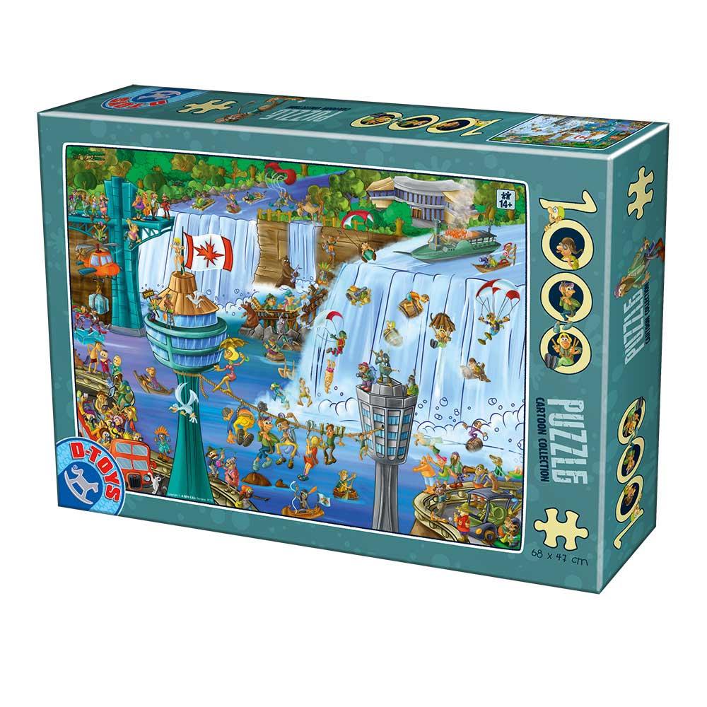 Puzzle D-Toys Cartoon, Cataratas del Niagara de 1000 Piezas