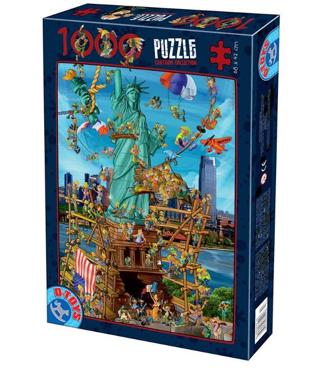 Puzzle D-Toys Cartoon Nueva York 1000 Piezas