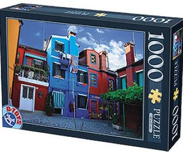 Puzzle D-Toys Casas de Colores de 1000 Piezas