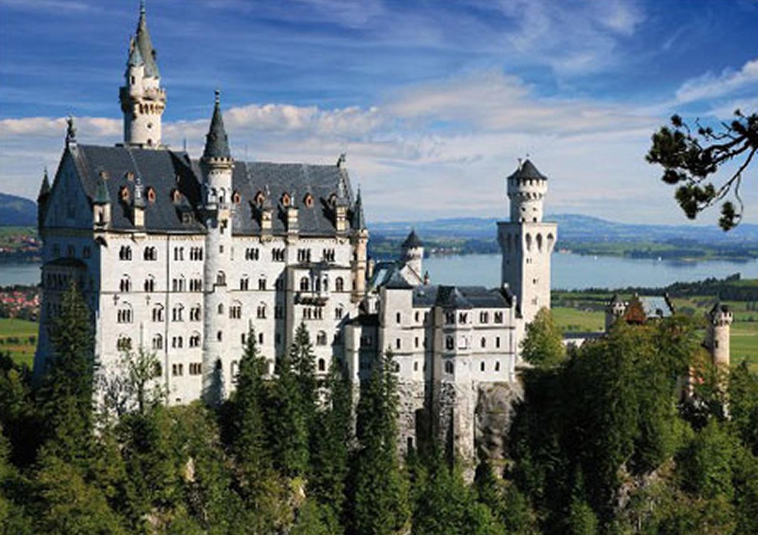 Puzzle D-Toys Castillo del Rey Loco, Alemania de 500 Piezas