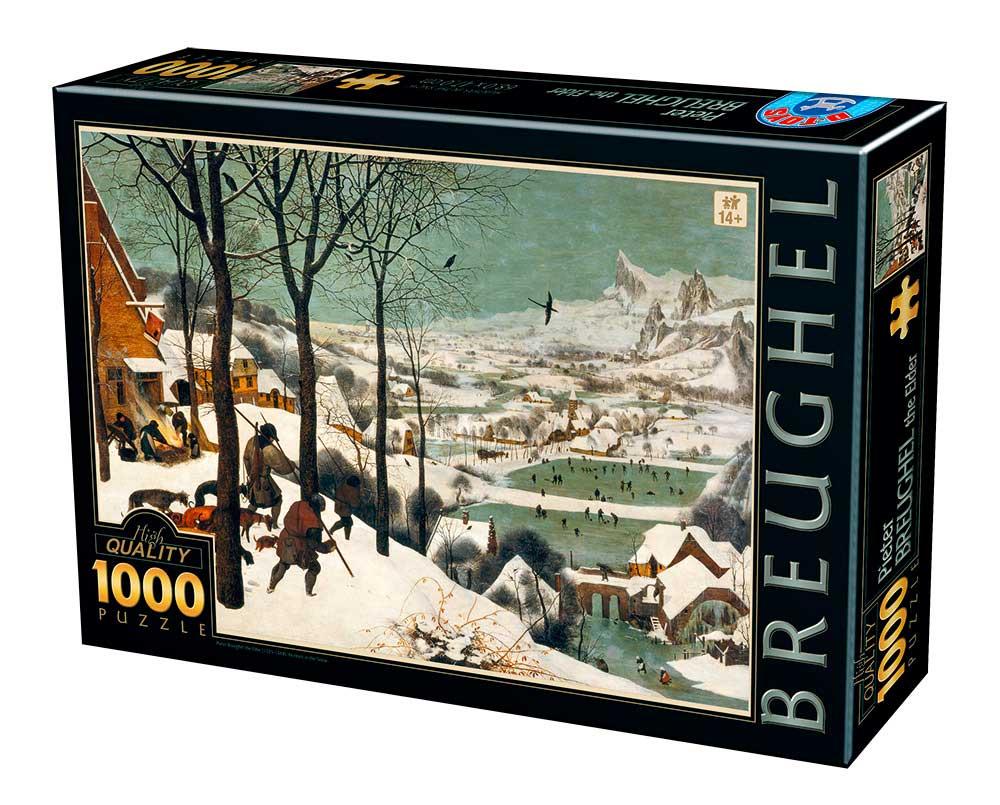 Puzzle D-Toys Cazador en la Nieve de 1000 Piezas