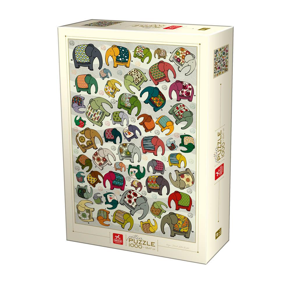 Puzzle D-Toys Colección de Elefantes de 1000 Piezas