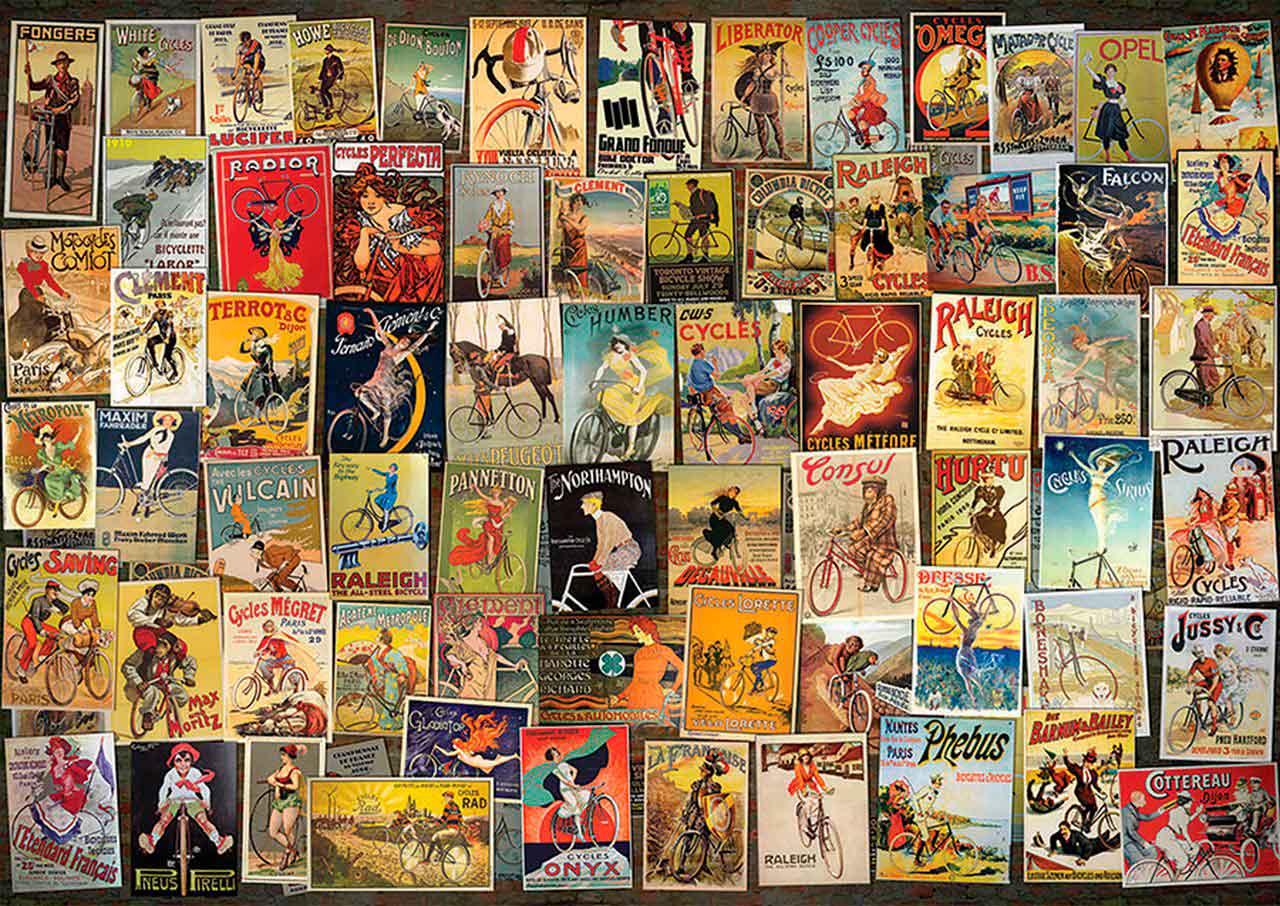 Puzzle D-Toys Collage Vintage, Ruedas de 1000 Piezas