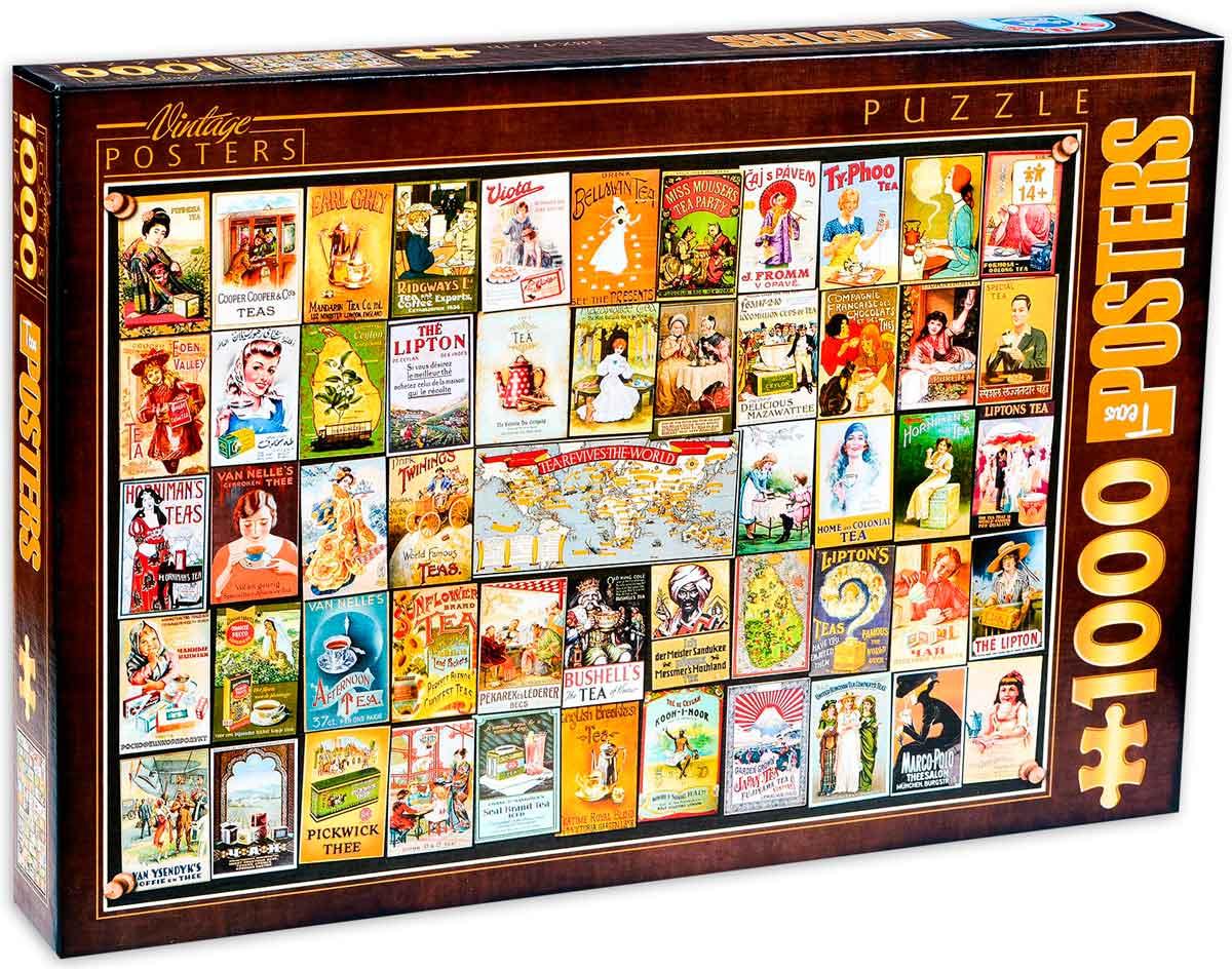 Puzzle D-Toys Collage Vintage, Té de 1000 Piezas