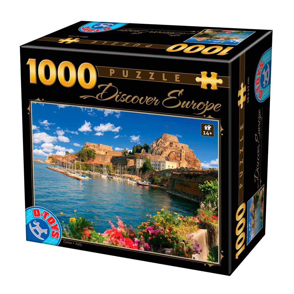 Puzzle D-Toys Como, Italia de 1000 Piezas