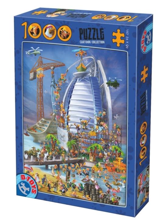 Puzzle D-Toys Construcción du Burj Al Arab de 1000 Piezas