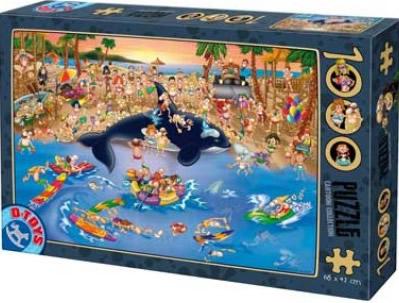 Puzzle D-Toys Día de Playa de 1000 Piezas