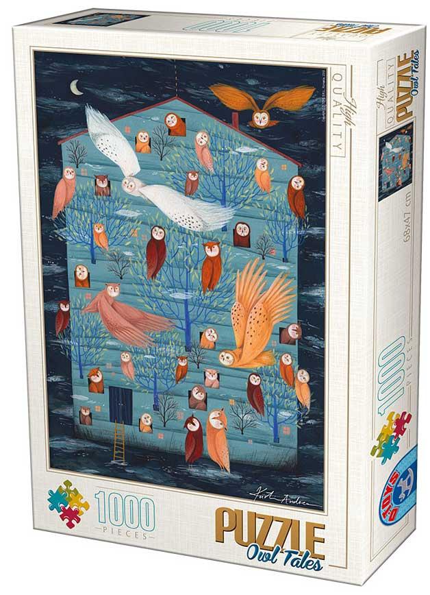 Puzzle D-Toys El Hogar de los Buhos de 1000 Piezas