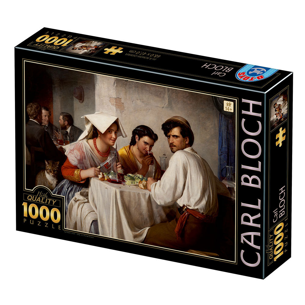 Puzzle D-Toys En Una Hostería Romana de 1000 Piezas