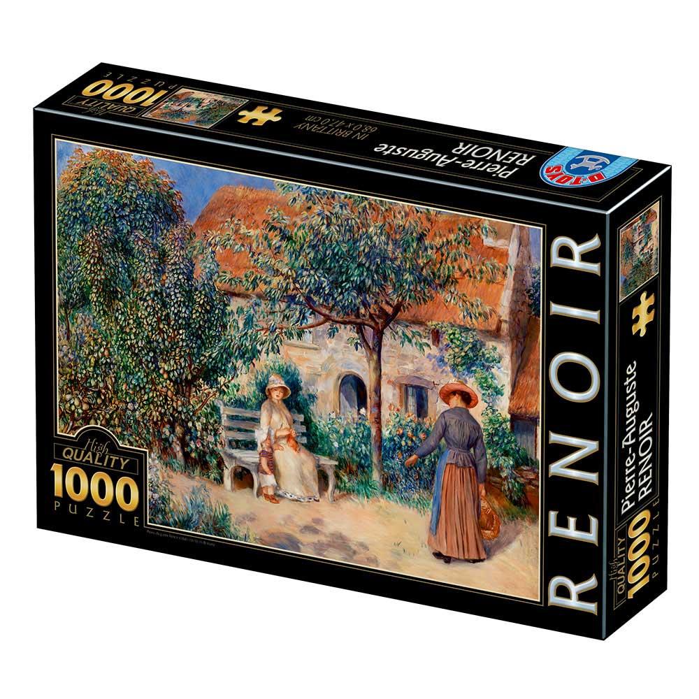Puzzle D-Toys Escena del jardín en Bretaña de 1000 Piezas