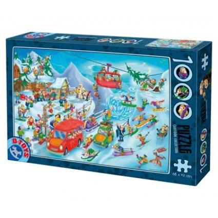 Puzzle D-Toys Historieta de Nieve de 1000 Piezas