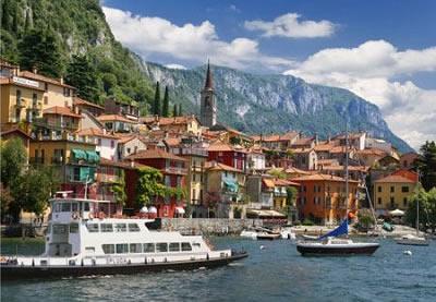 Puzzle D-Toys Italia. Lago Como de 1000 Piezas