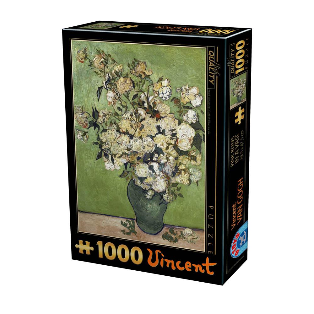 Puzzle D-Toys Jarrón de Rosas de 1000 Piezas