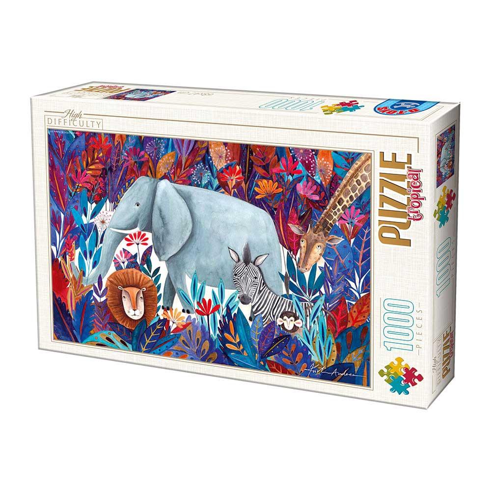 Puzzle D-Toys Jungla Africana de 1000 Piezas