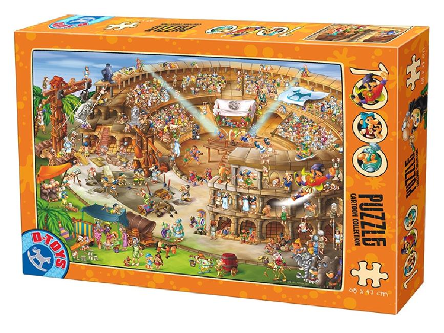 Puzzle D-Toys La Construcción del Coliseo de 1000 Piezas