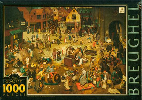 Puzzle D-Toys La Lucha Entre el Carnaval y el Ayuno de 1000 Piez