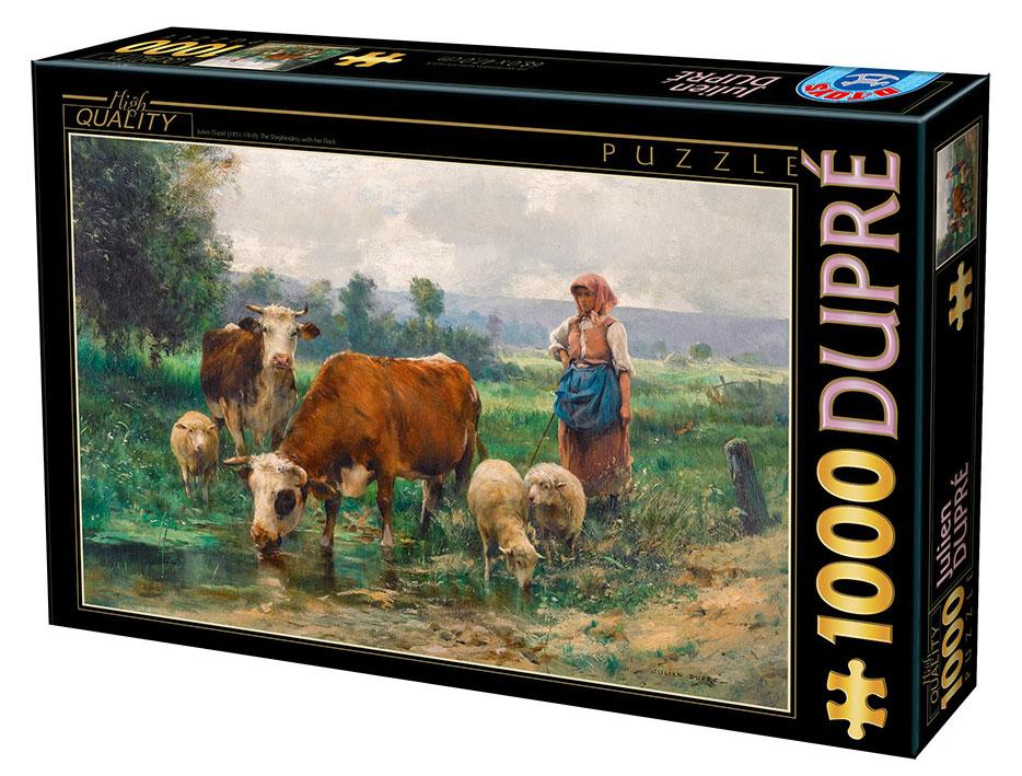 Puzzle D-Toys La Pastora con su Rebaño de 1000 Piezas