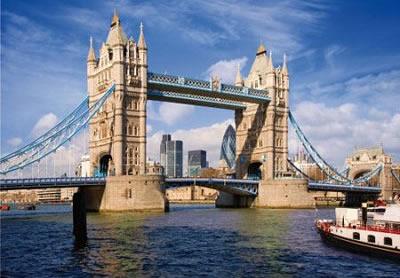 Puzzle D-Toys London Tower Bridge, Reino Unido de 1000 Piezas