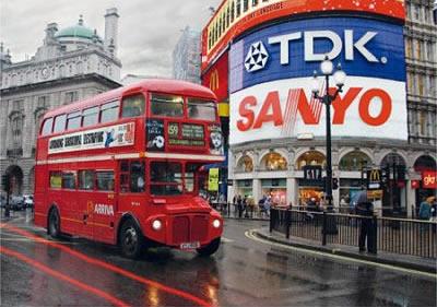 Puzzle D-Toys Londres, Piccadilly Circus de 1000 Piezas