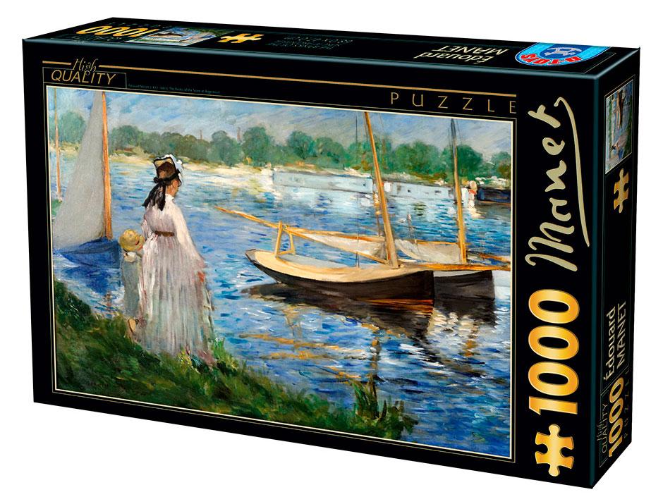 Puzzle D-Toys Los Bancos del Sena en Argenteuil de 1000 Piezas