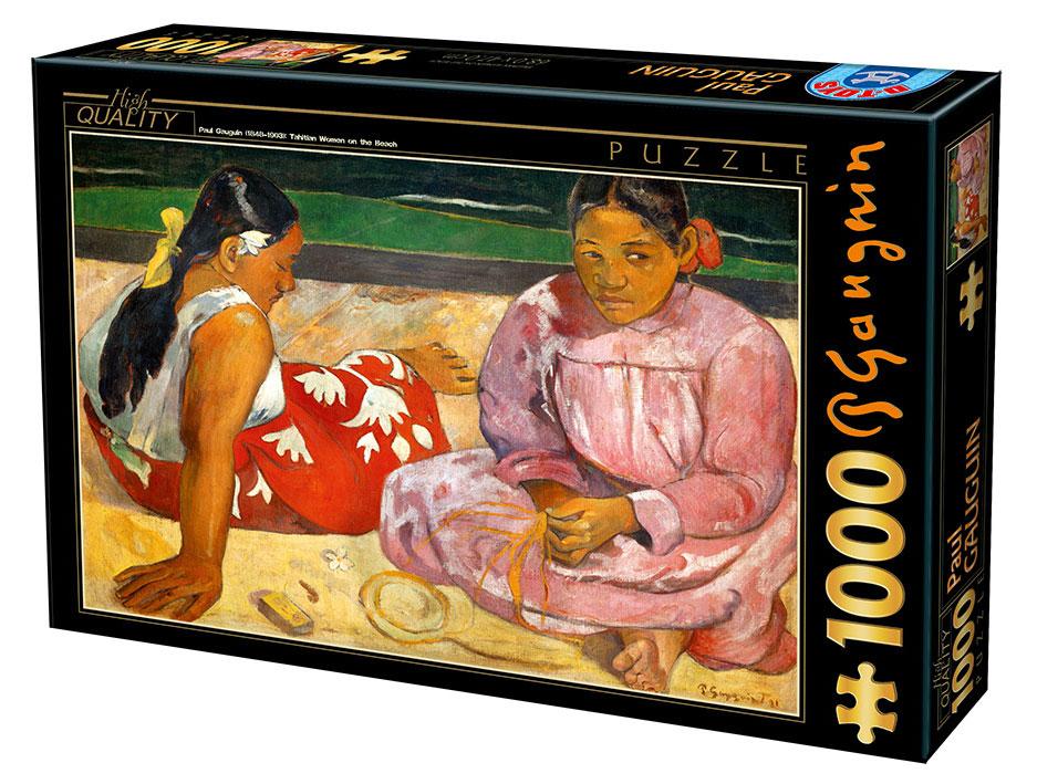 Puzzle D-Toys Mujeres de Tahití en la Playa de 1000 Piezas