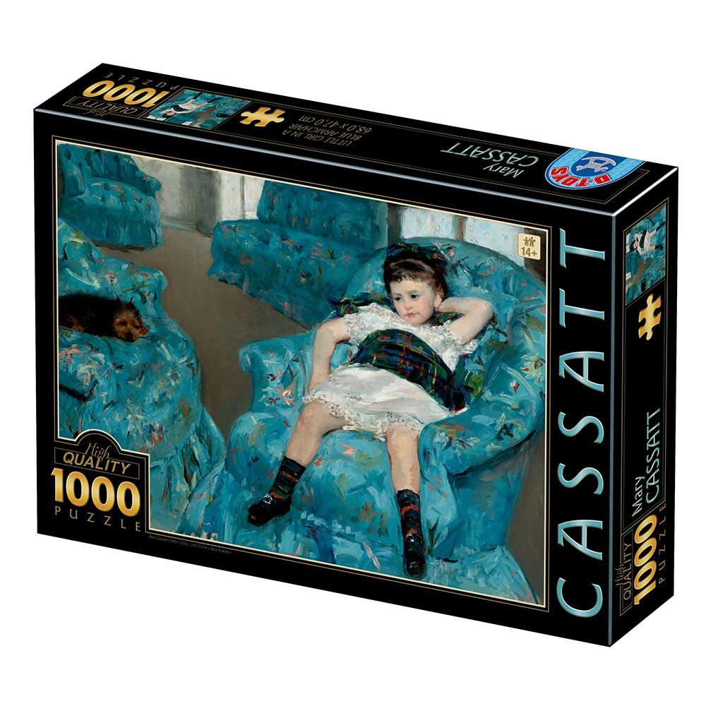 Puzzle D-Toys Niñita en un Sillón Azul de 1000 Piezas