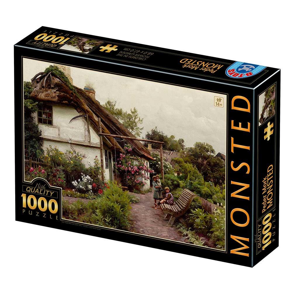Puzzle D-Toys Niños en el Jardín de Flores de 1000 Piezas