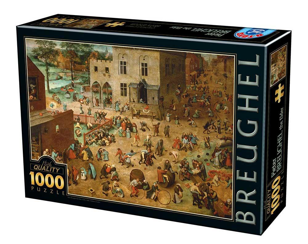 Puzzle D-Toys Niños Jugando de 1000 Piezas