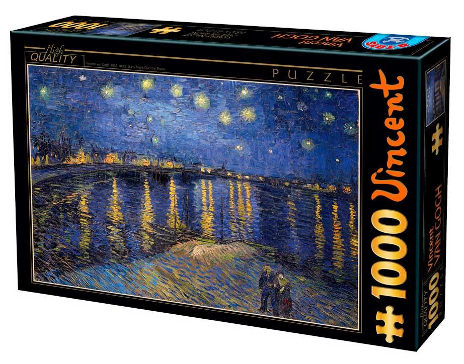 Puzzle D-Toys Noche Estrellada sobre el Ródano de 1000 Pzs