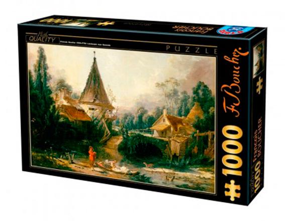 Puzzle D-Toys Paisaje Cerca de Beauvais de 1000 Piezas