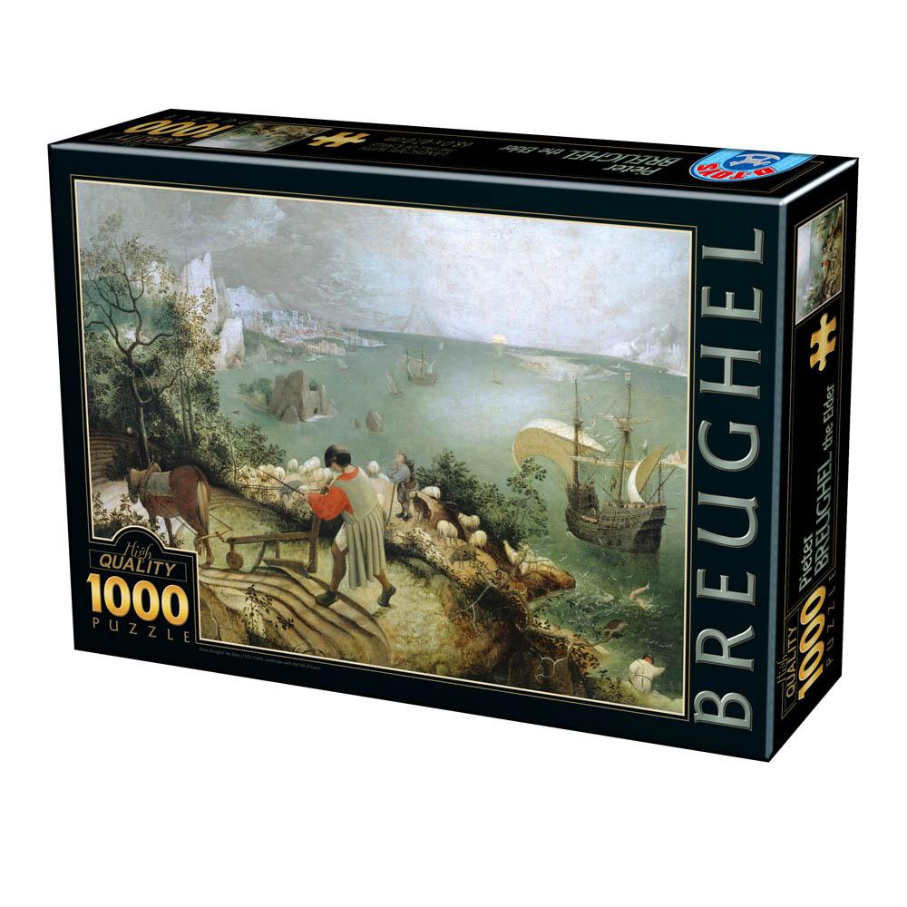 Puzzle D-Toys Paisaje con la Caída de Ícaro de 1000 Piezas