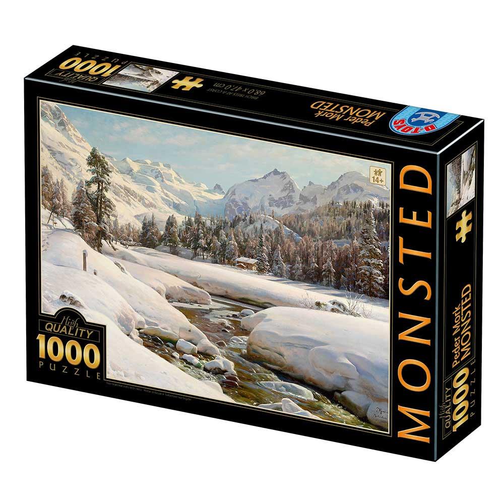 Puzzle D-Toys Paisaje de Invierno en Suiza de 1000 Pzs