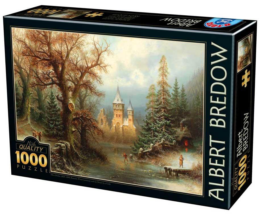 Puzzle D-Toys Paisaje Romántico del Invierno de 1000 Piezas