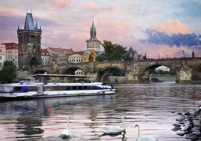 Puzzle D-Toys Paseo en Barco por Praga, República Checa de 1000