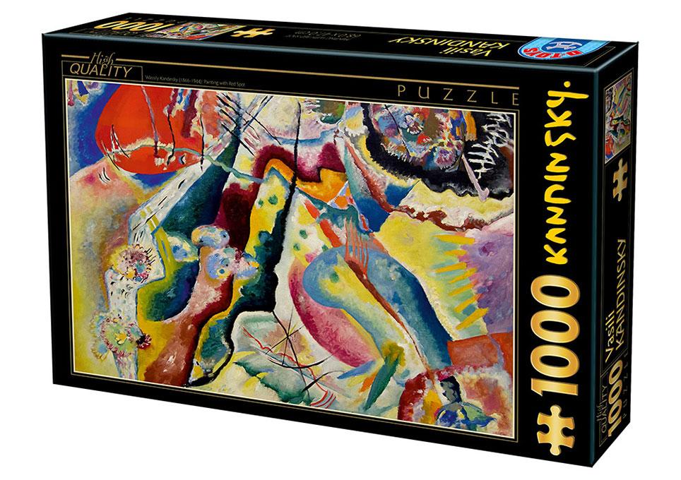 Puzzle D-Toys Pintando con Punto Rojo de 1000 Piezas