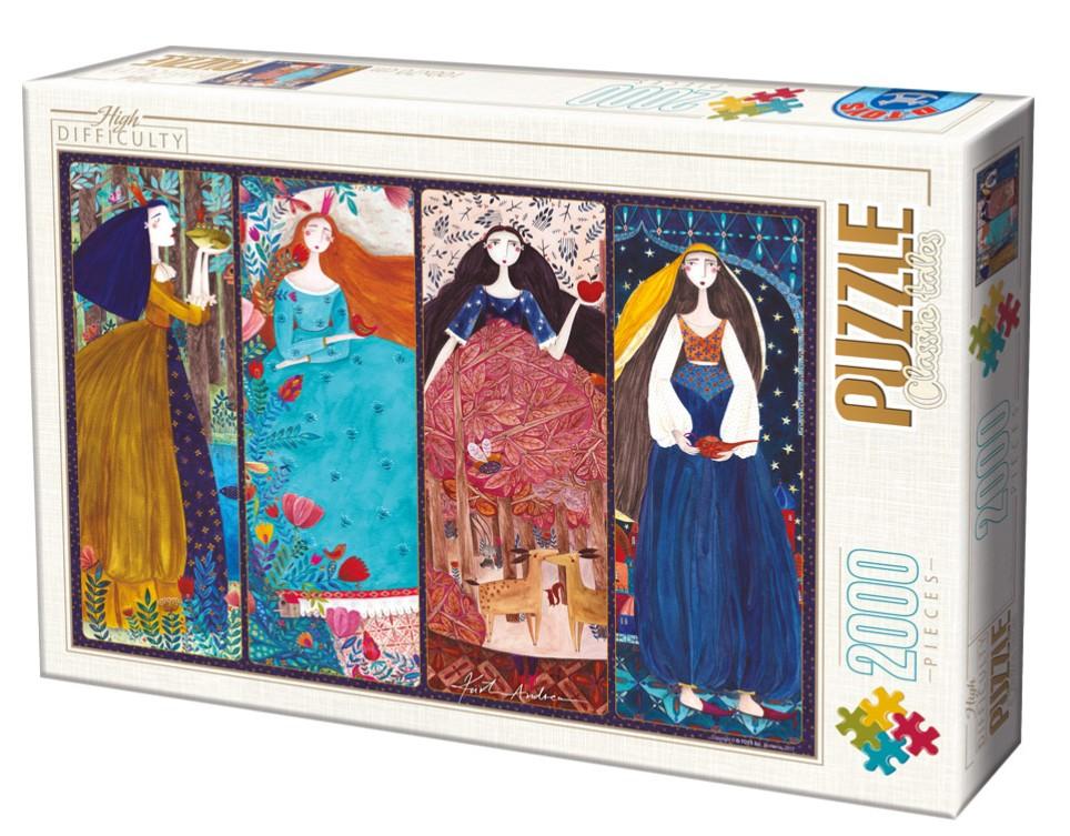 Puzzle D-Toys Princesas de Cuentos de 2000 Piezas