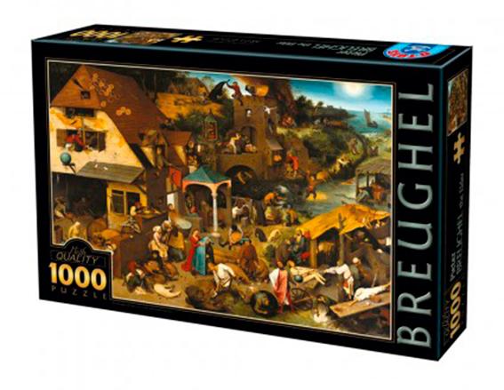 Puzzle D-Toys Proverbios Holandeses de 1000 Piezas