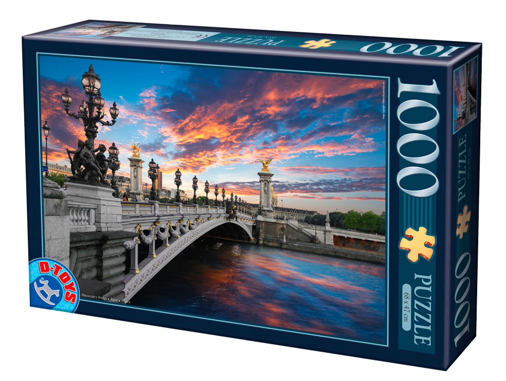 Puzzle D-Toys Puente de Alexander, París de 1000 Piezas