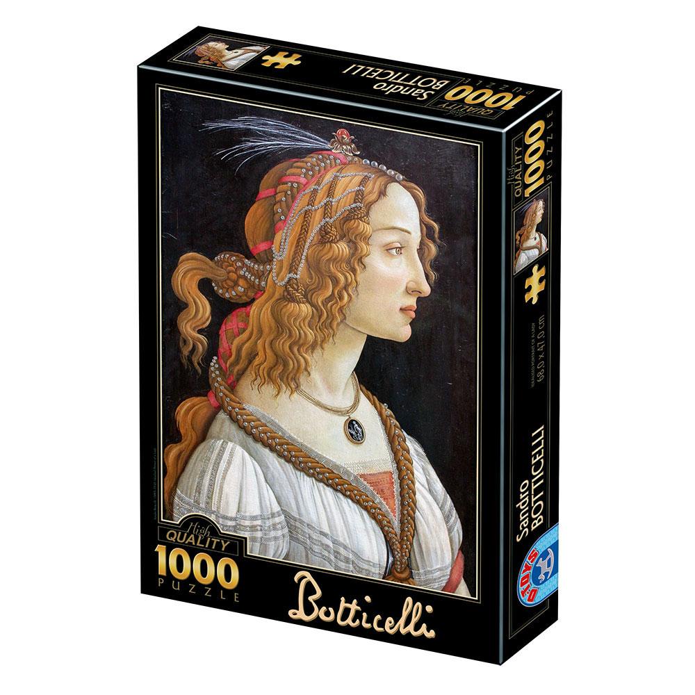 Puzzle D-Toys Retrato de Una Joven de 1000 Piezas