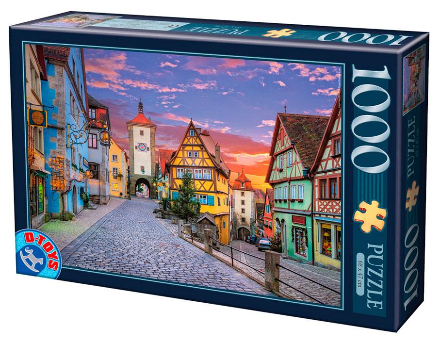 Puzzle D-Toys Rotemburgo, Alemania 1000 Piezas